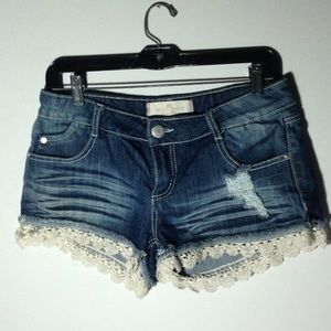 Almost Famous Short Short Daisy Dukes Distressed 9